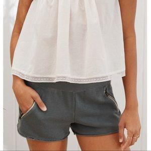 Aerie zip pocket sweat shorts